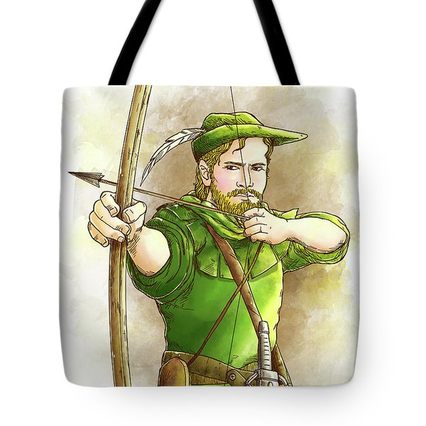 Robin Hood The Legend Tote Bag by Reynold Jay