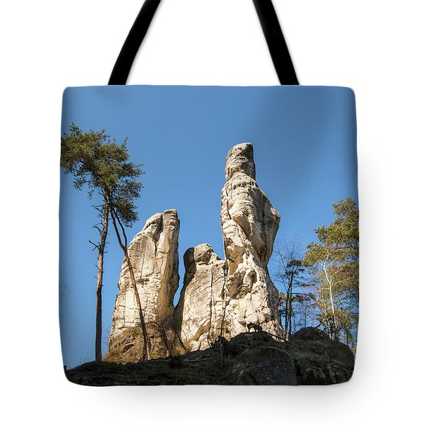Tote Bag featuring the photograph Rock Formations In The Bohemian Paradise Geopark by Michal Boubin