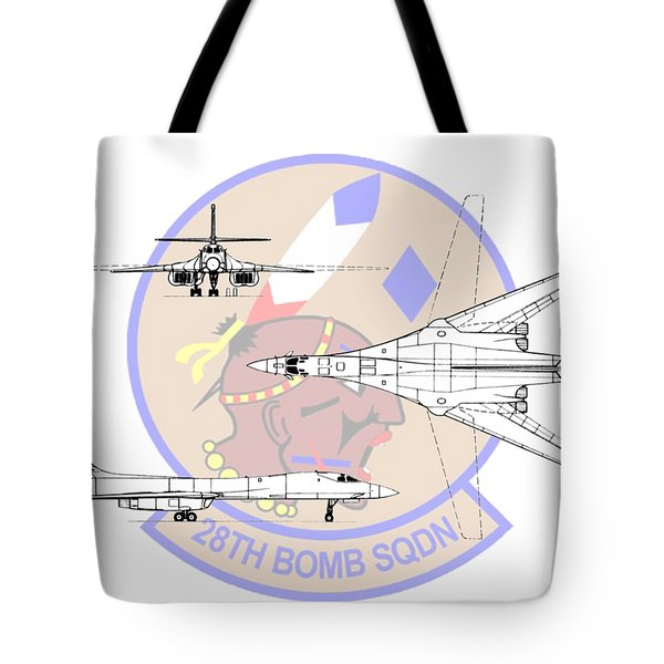 Rockwell B-1b Lancer Tote Bag by Arthur Eggers