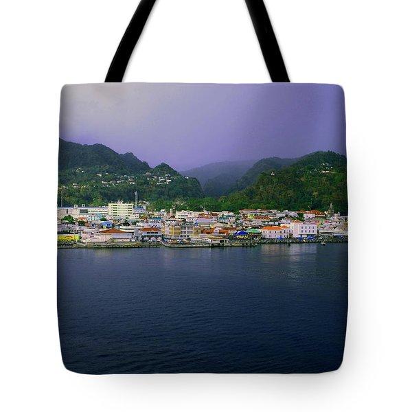Roseau Dominica Tote Bag