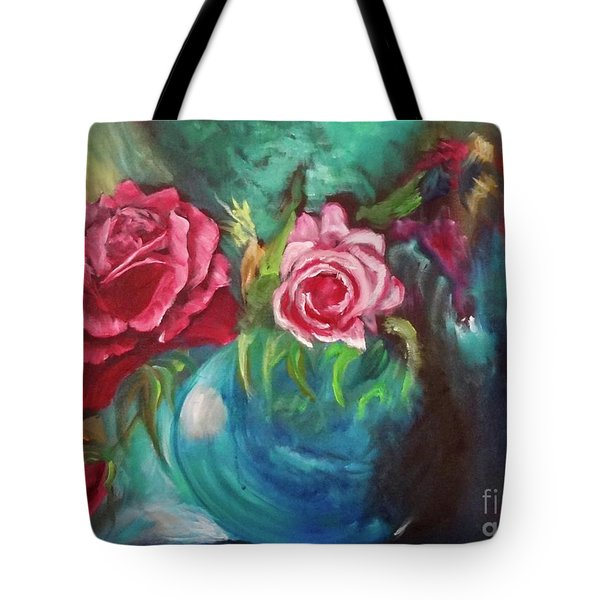 Roses One Of A Kind Handmade Tote Bag