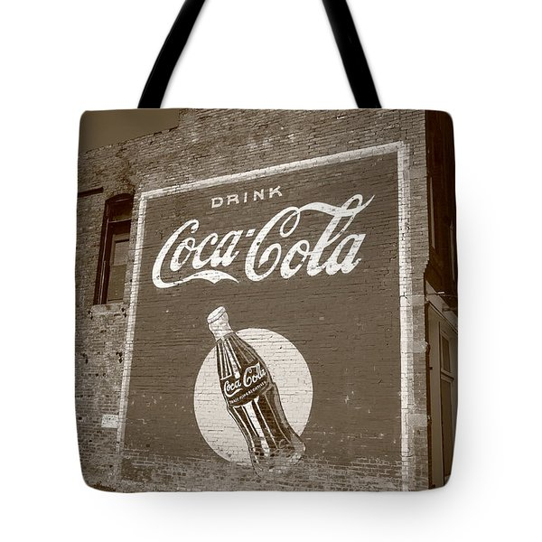 Route 66 - Coca Cola Ghost Mural Tote Bag by Frank Romeo