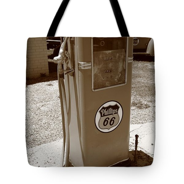 Route 66 Gas Pump Tote Bag