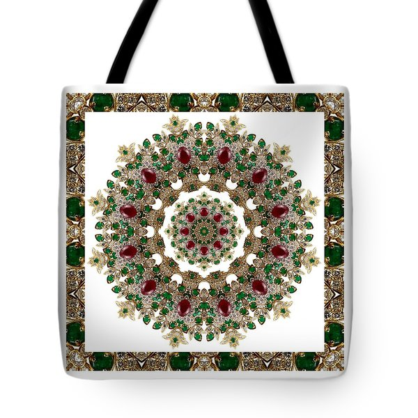 Ruby And Emerald Kaleidoscope Tote Bag