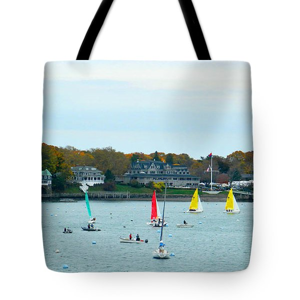 Tote Bag featuring the photograph Sailing by Raymond Earley