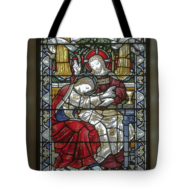 Tote Bag featuring the digital art Saint Anne's Windows by Jim Proctor