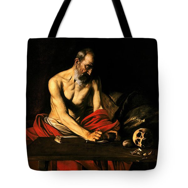 Saint Jerome Writing Tote Bag