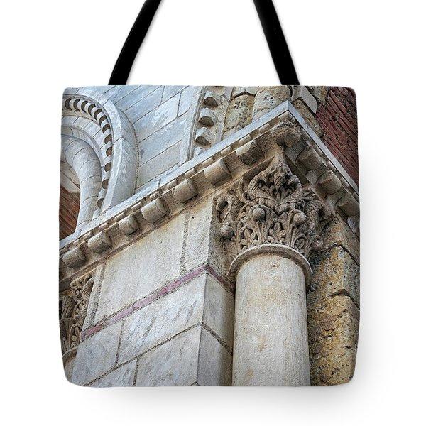 Tote Bag featuring the photograph Saint Sernin Basilica Architectural Detail by Elena Elisseeva