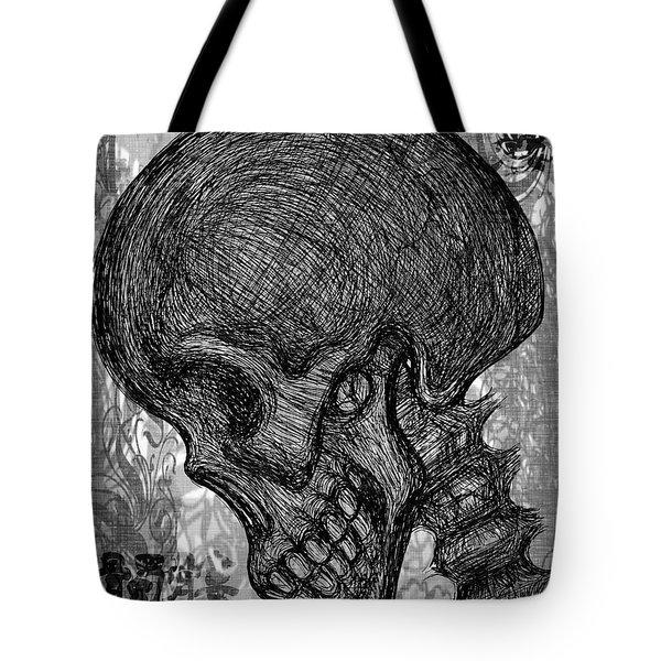 Gothic Skull Tote Bag