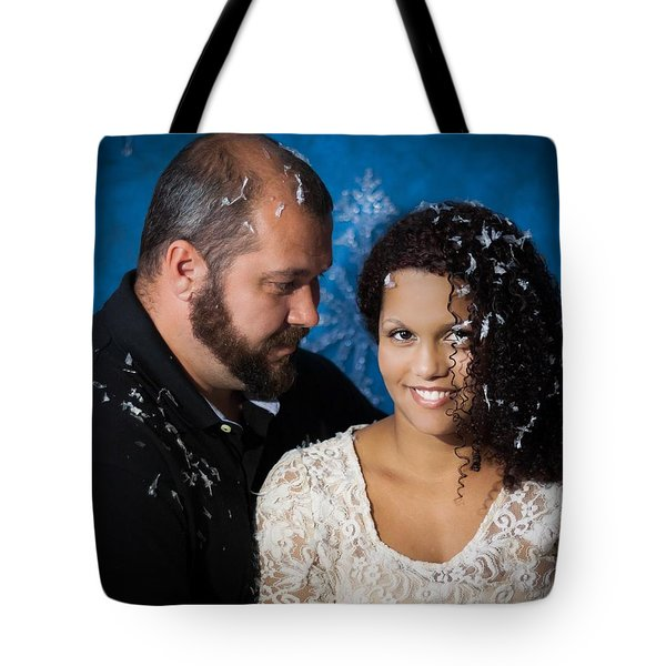 Smith Family Holiday Tote Bag by Theresa Johnson