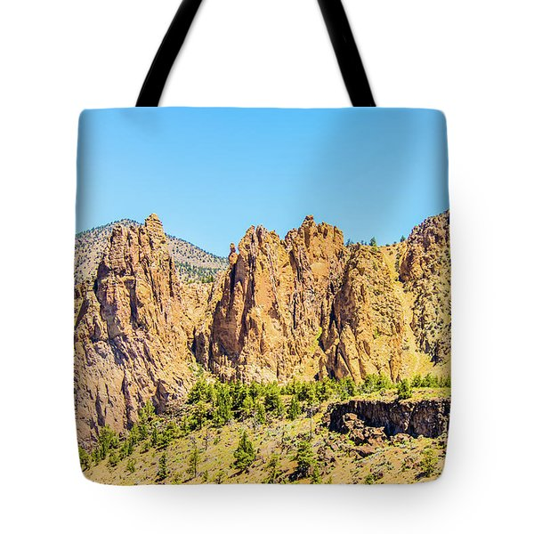 Tote Bag featuring the photograph Smith Rock by Jonny D