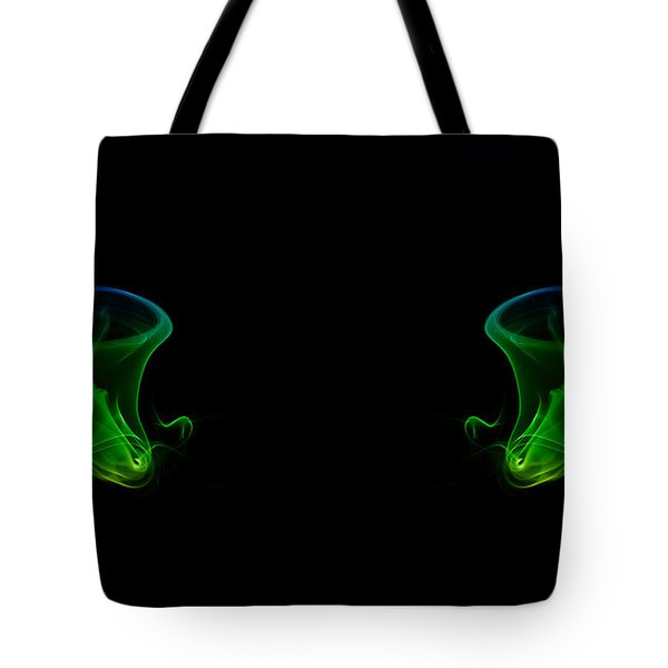 Tote Bag featuring the photograph smoke XXXIV by Joerg Lingnau