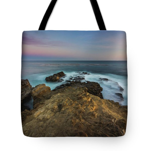 Tote Bag featuring the photograph Smooth Waves At Sequit Point by Andy Konieczny