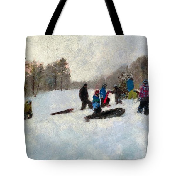 Snow Day Tote Bag by Claire Bull