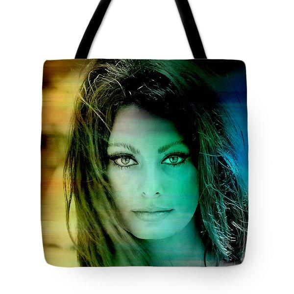 Sophia Loren Tote Bag