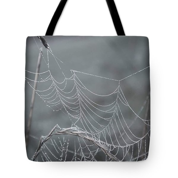 Spiderweb Droplets Tote Bag