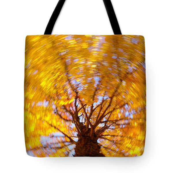 Spinning Maple Tote Bag