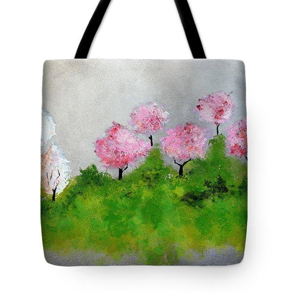 Spring Tote Bag by Haleh Mahbod
