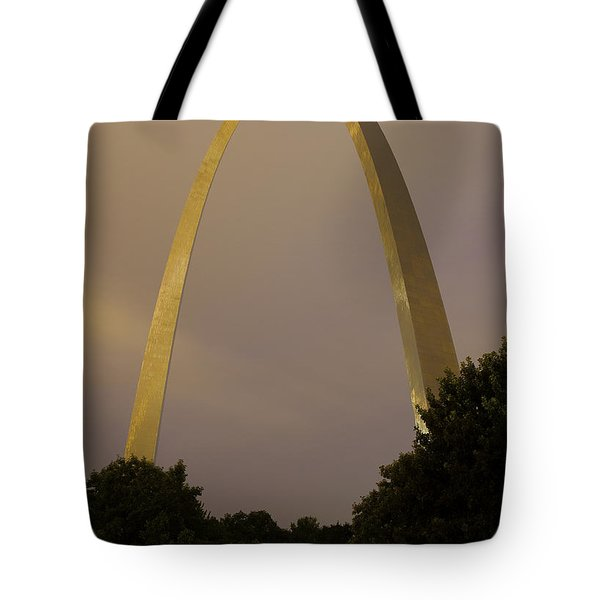 St Louis Arch At Dusk Tote Bag