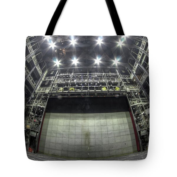 Tote Bag featuring the photograph Stage In The Abandoned Theatre by Michal Boubin