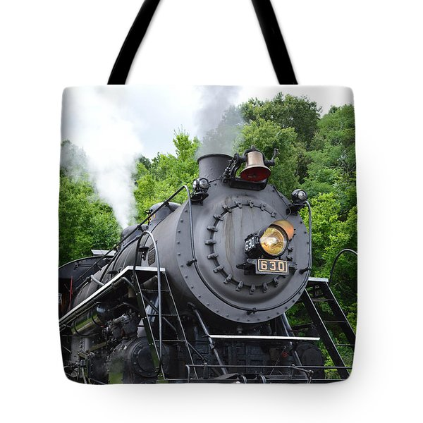 Steam Engline Number 630 Tote Bag