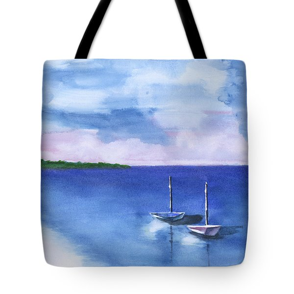 2 Still Boats Tote Bag