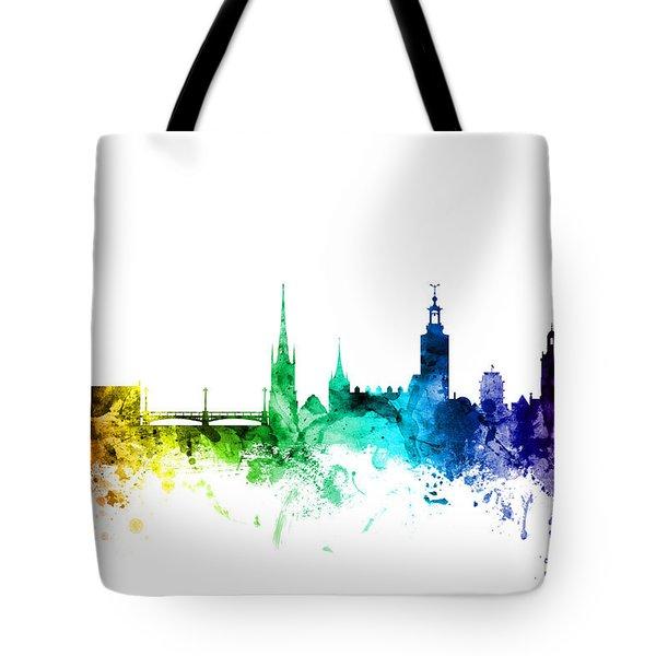 Stockholm Sweden Skyline Tote Bag
