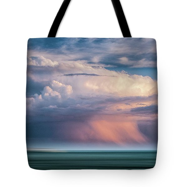 Storm On The Sound Tote Bag