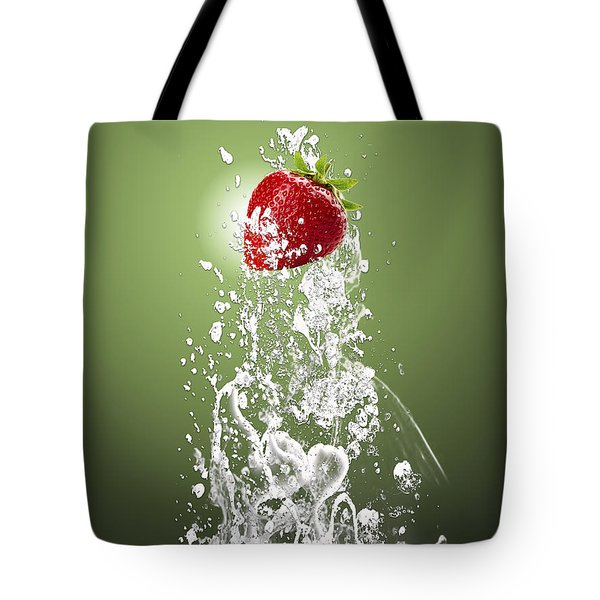 Strawberry Splash Tote Bag by Marvin Blaine
