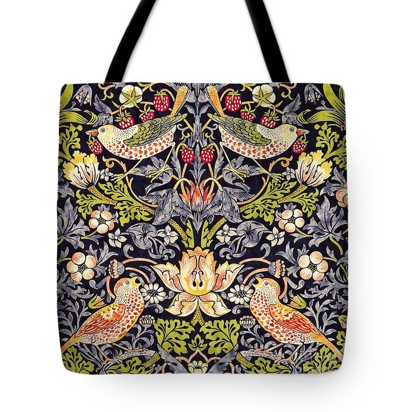 Tote Bag featuring the painting Strawberry Thief by William Morris