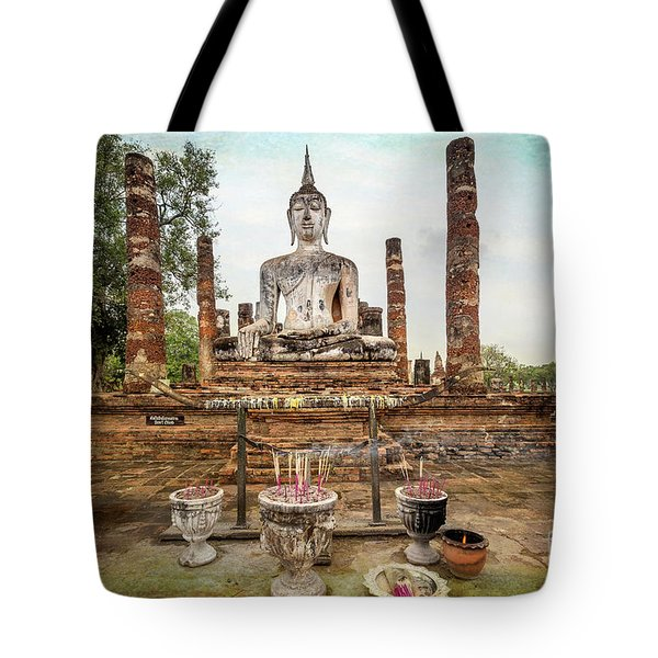 Tote Bag featuring the photograph Sukhothai Buddha by Adrian Evans