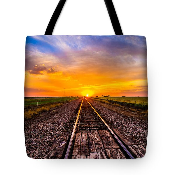 Sun Tracks Tote Bag