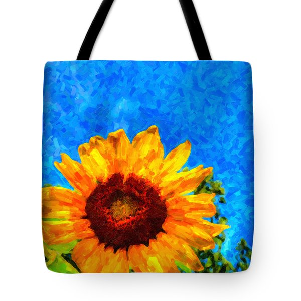 Sunflower  Tote Bag by Andre Faubert