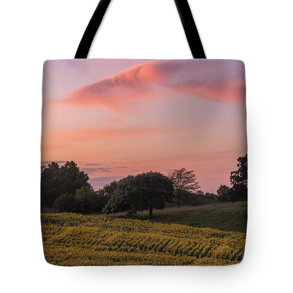 Sunflowers In Pink Tote Bag