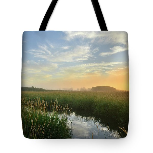 Sunrise At Glacial Park Tote Bag