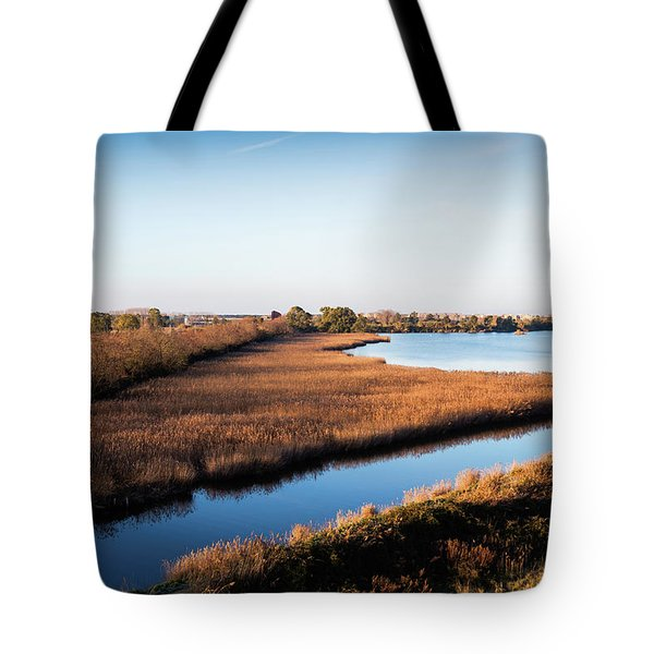 Tote Bag featuring the photograph Sunrise In The Ditch Burlamacca by Giovanni Bertagna