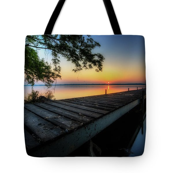 Sunrise Over Cayuga Lake Tote Bag by Everet Regal