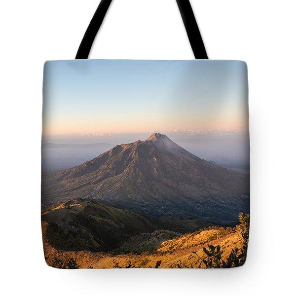 Sunrise Over Java In Indonesia Tote Bag