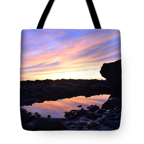 Tote Bag featuring the photograph Sunset by Alex King