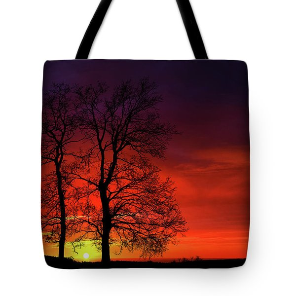 Tote Bag featuring the photograph Sunset by Bess Hamiti