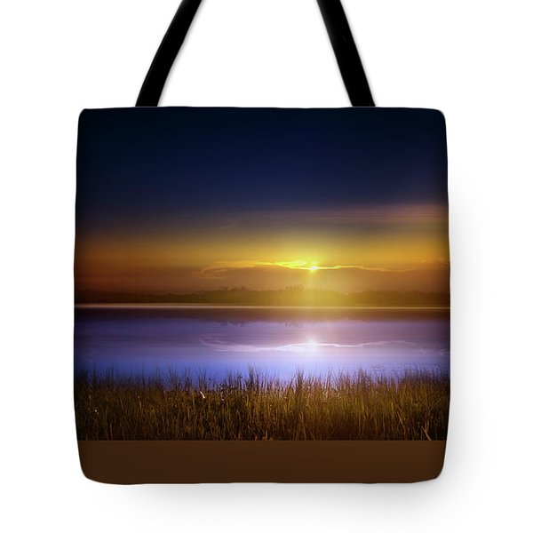 Sunset In The Glades Tote Bag by Mark Andrew Thomas