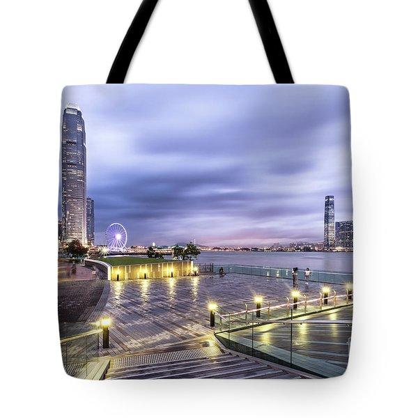 Sunset Over Hong Kong Tote Bag