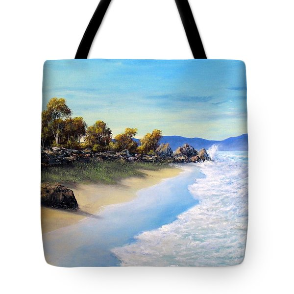 Surf Surge Tote Bag by John Cocoris