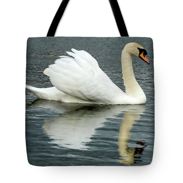 Tote Bag featuring the photograph Swan by Cliff Norton