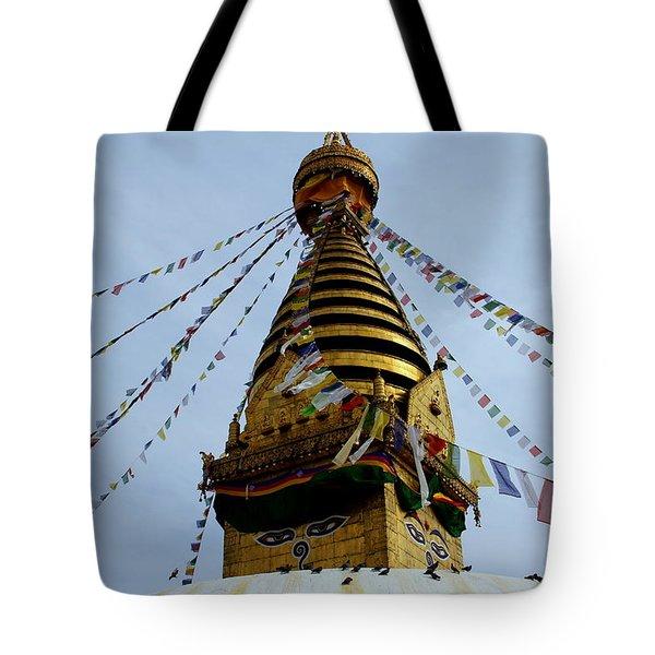 Swayambhunath Tote Bag