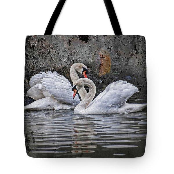 Tango Of The Swans Tote Bag