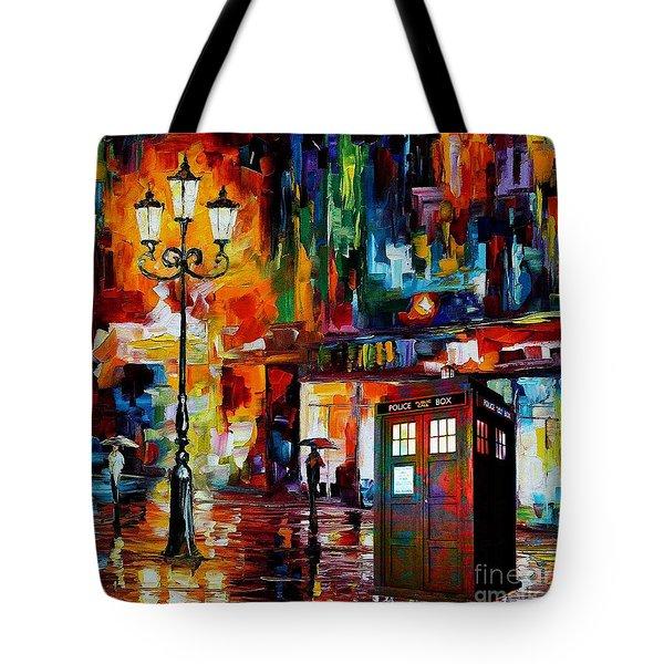 Tardis Art Painting Tote Bag