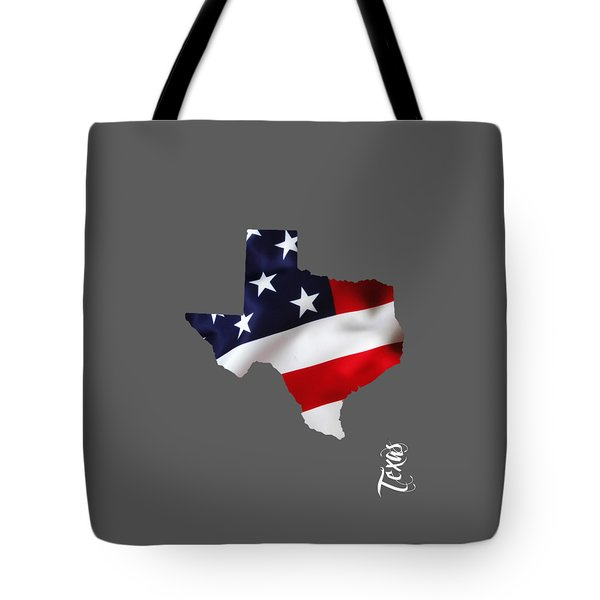 Texas State Map Collection Tote Bag