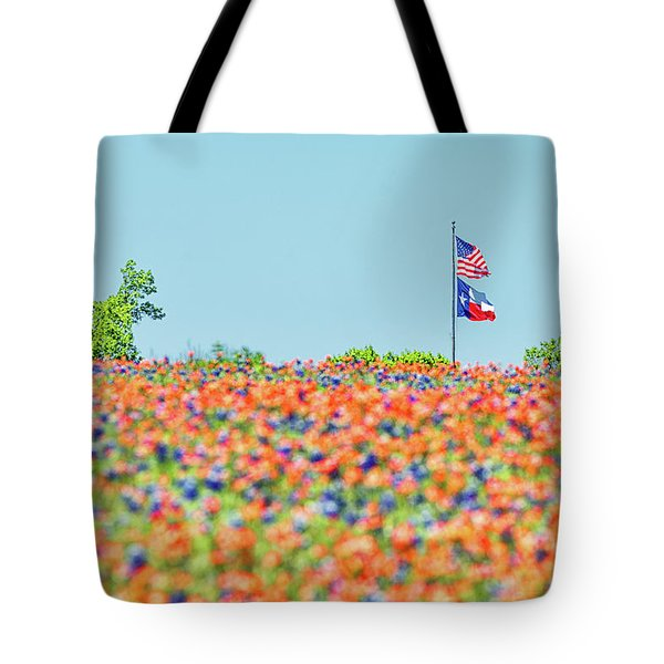 God Bless America And God Bless Texas Tote Bag