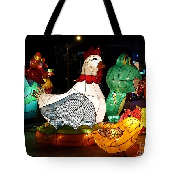 Tote Bag featuring the photograph The 2017 Lantern Festival In Taiwan by Yali Shi